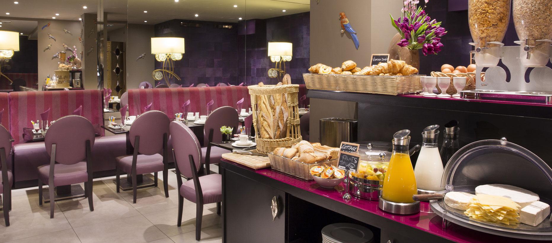 Hotel-Mondial-Paris-Salle-de-petit-déjeuner